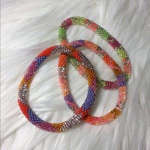 Jewelry - Set of 3 colorful roll on bracelets